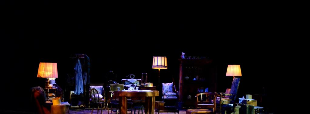 Photograph from Exit The King - lighting design by Chris Jaeger