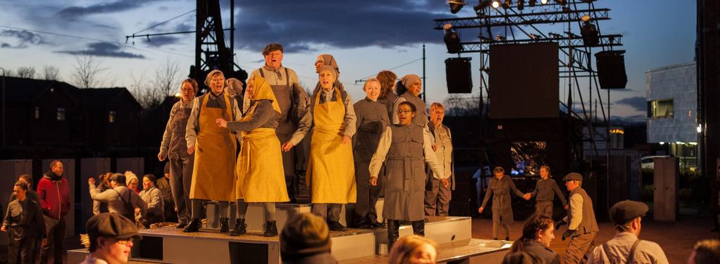 Photograph from Shift - lighting design by Simon Hayes