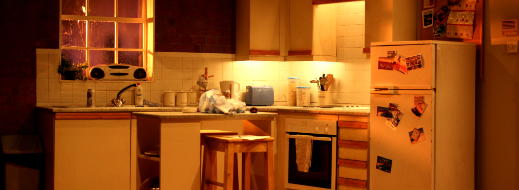 Photograph from Dogs Barking - lighting design by George Bach