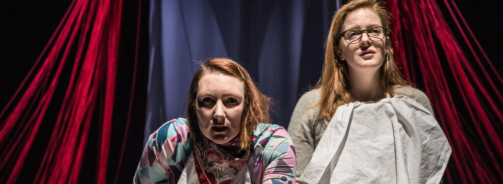 Photograph from Eat Me - lighting design by Simon Hayes
