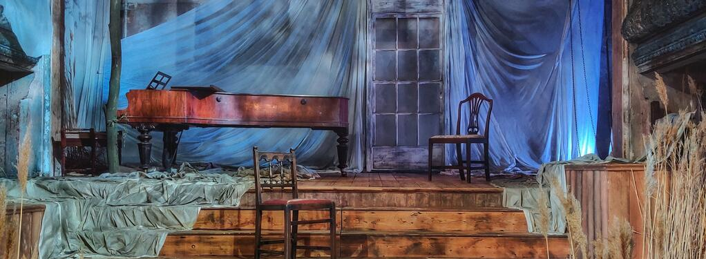 Photograph from The Turn of the Screw - lighting design by lewis.hannaby