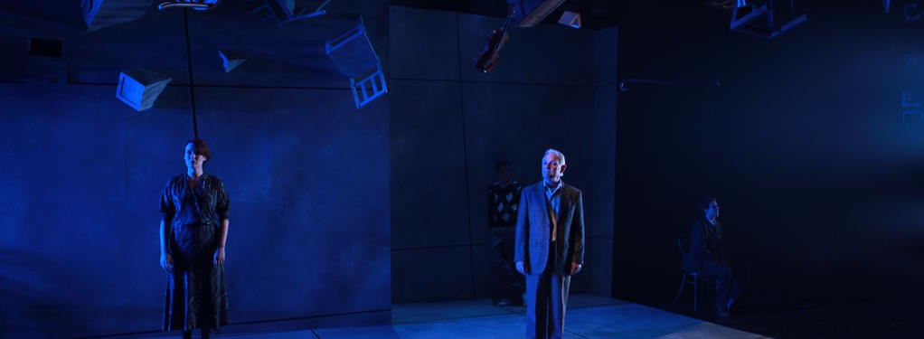 Photograph from Don't Mention Casablanca - lighting design by Brendan Albrey