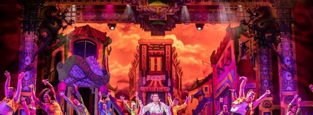 Photograph from Aladdin - lighting design by Matt Ladkin