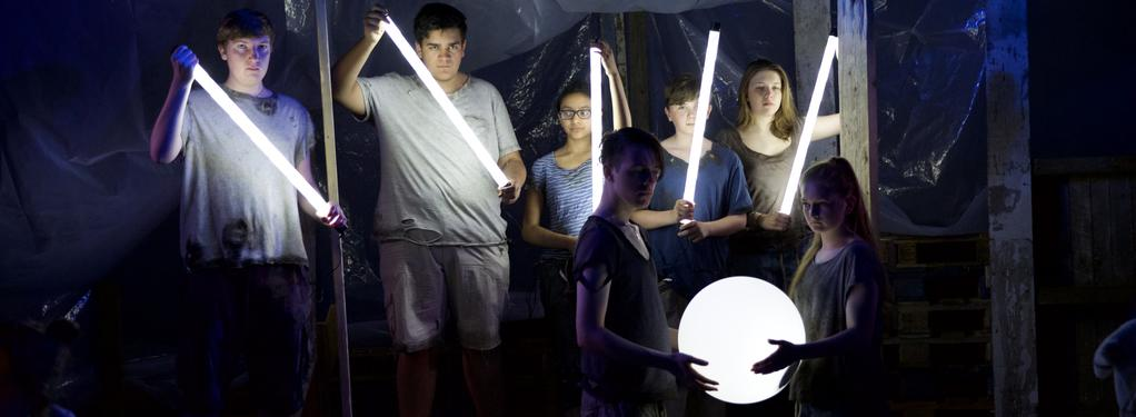Photograph from The Odyssey - lighting design by Will Burgher