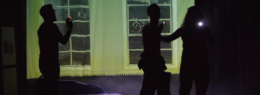 Photograph from Ghost The Musical - lighting design by John Leventhall