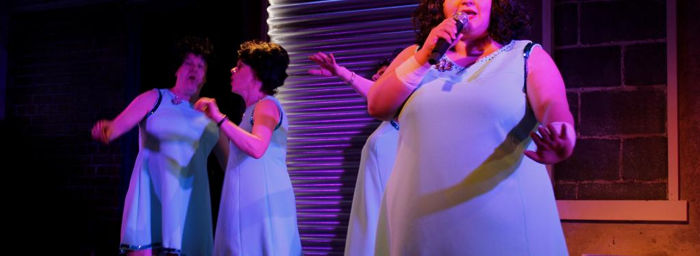 Photograph from The Flannelettes - lighting design by George Bach