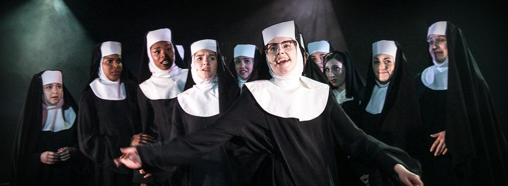 Photograph from Sister Act the Musical - lighting design by Joseph Ed Thomas
