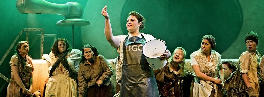 Photograph from Urinetown - lighting design by Grant Anderson
