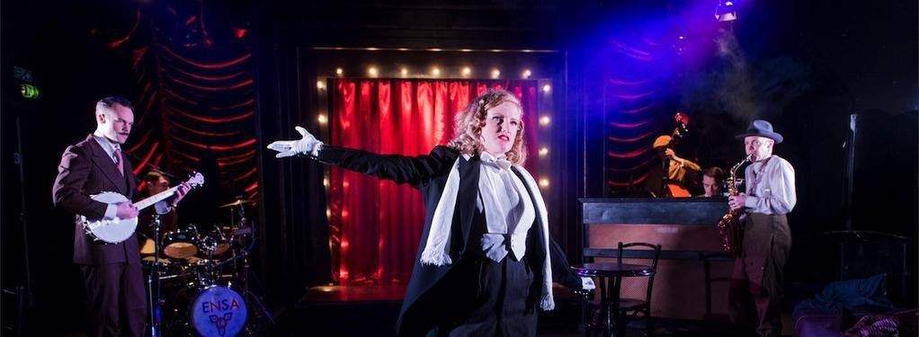 Photograph from Miss Nightingale - lighting design by Callum MacDonald