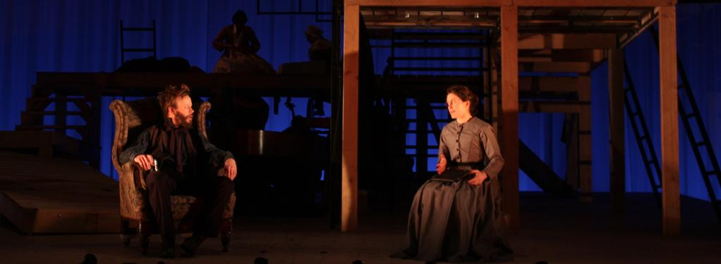 Photograph from Jane Eyre - lighting design by Aideen Malone