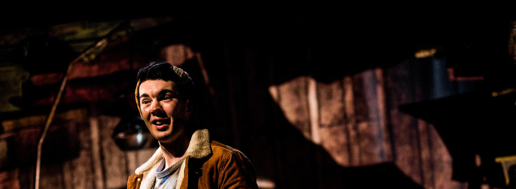 Photograph from Stig of the Dump - lighting design by Christopher Withers