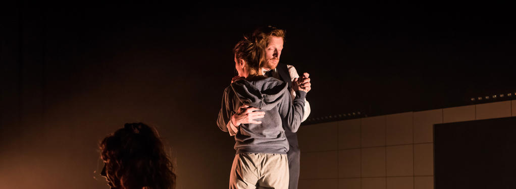 Photograph from Shattered - lighting design by Laura Hawkins