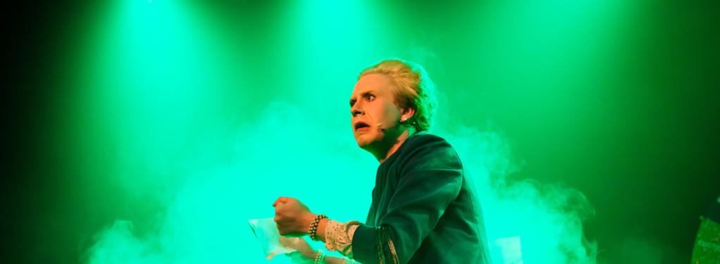 Photograph from Margaret Thatcher, Queen of Gameshows - lighting design by Alex Fernandes