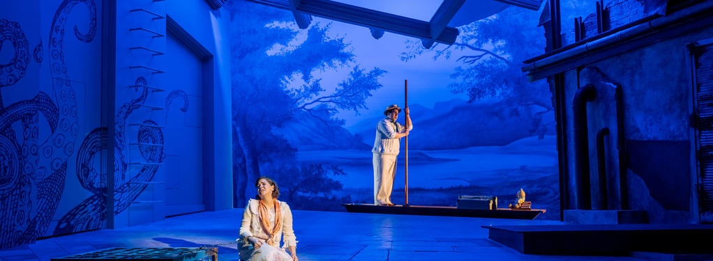 Photograph from La Fedelta Premiata - lighting design by David Howe