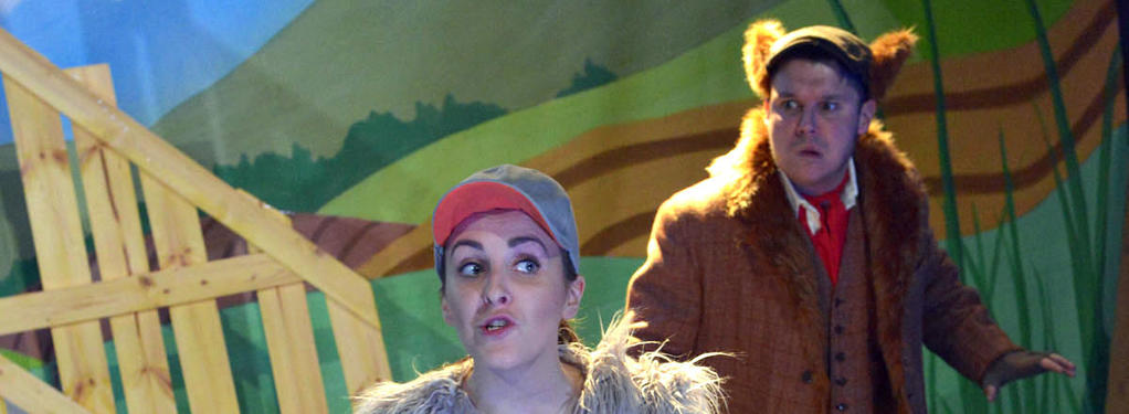 Photograph from The Ugly Duckling - lighting design by Louise Gregory