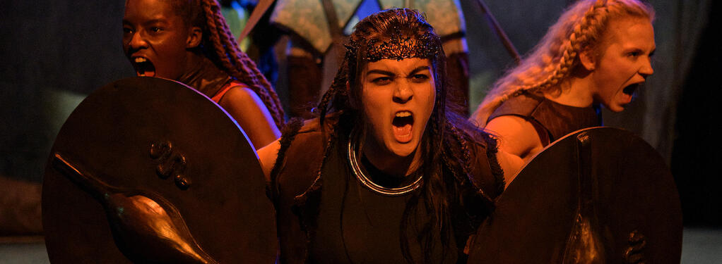 Photograph from Boudica - lighting design by Harry Owen