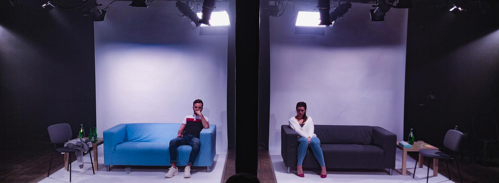 Photograph from Bedlam - lighting design by Edward Saunders