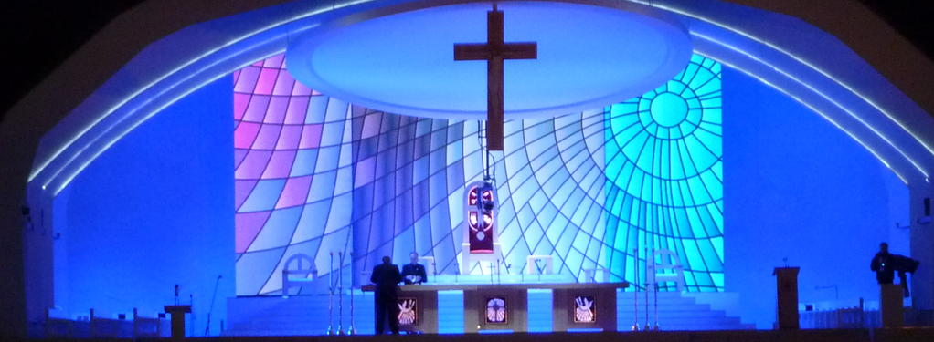 Photograph from The Papal Visit 2010 - lighting design by mikelefevre