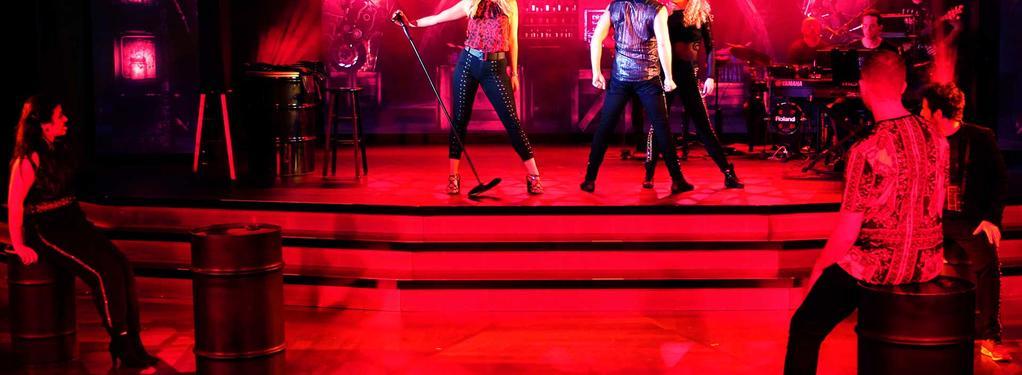 Photograph from Rock Tonight - lighting design by David Totaro
