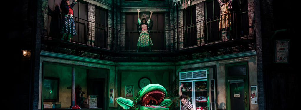 Photograph from Little Shop of Horrors - lighting design by David Kidd