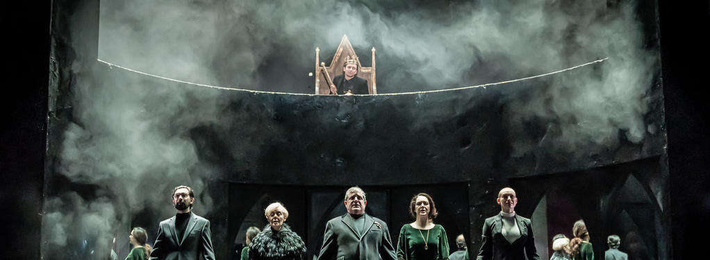Photograph from Richard III - lighting design by Elliot Griggs