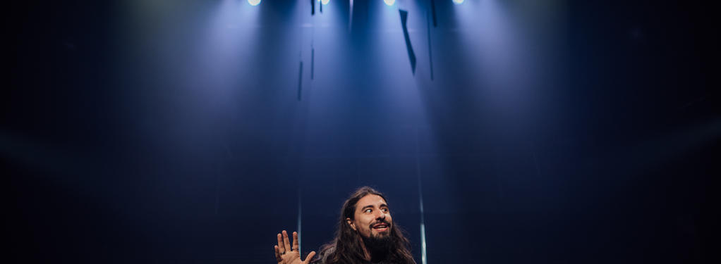 Photograph from Richard III - lighting design by Kiaran Kesby
