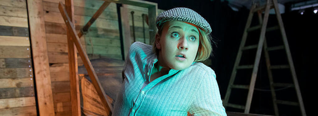 Photograph from Rocket Girl - lighting design by Louise Gregory