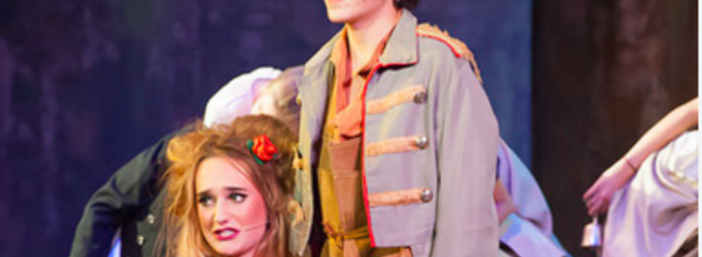 Photograph from Les Miserables - lighting design by Nigel Lewis