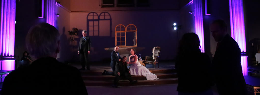Photograph from Simon Boccanegra - lighting design by Andrew Bird