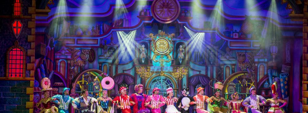 Photograph from Dick Whittington - lighting design by Matthew Clutterham
