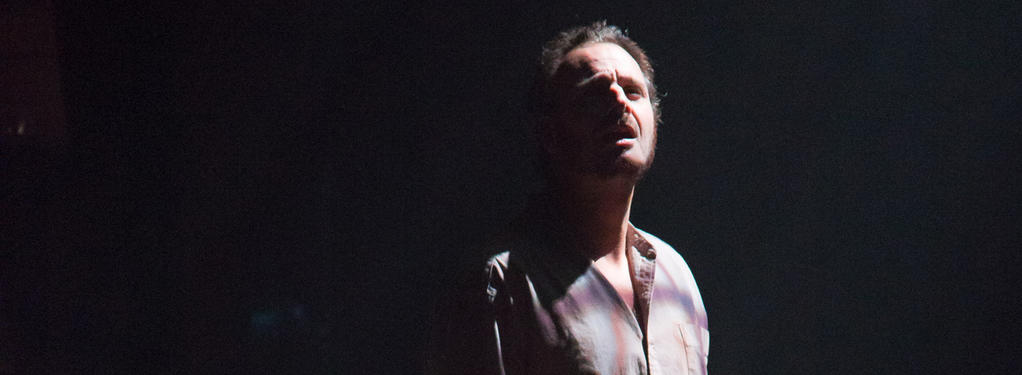 Photograph from The Crucible - lighting design by Nigel Lewis