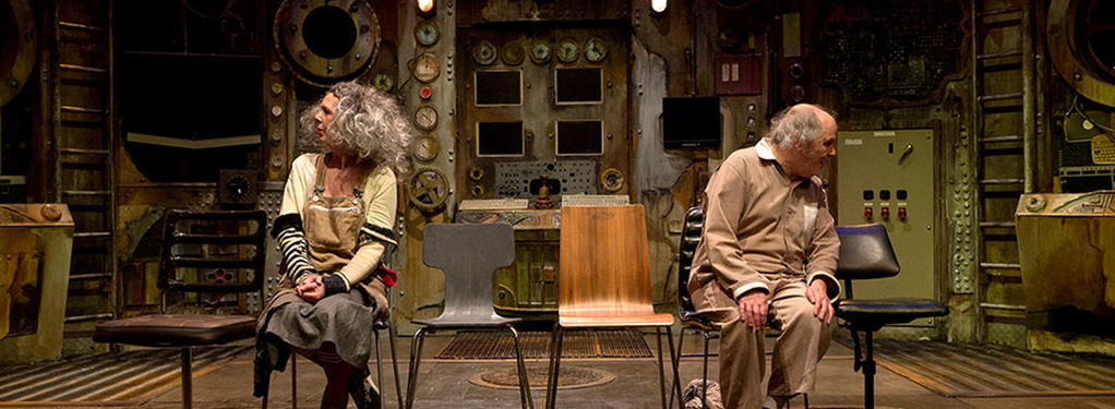 Photograph from The Chairs - lighting design by Steve Lowe