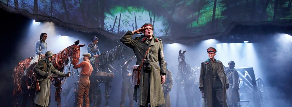 Photograph from War Horse - lighting design by George Bach
