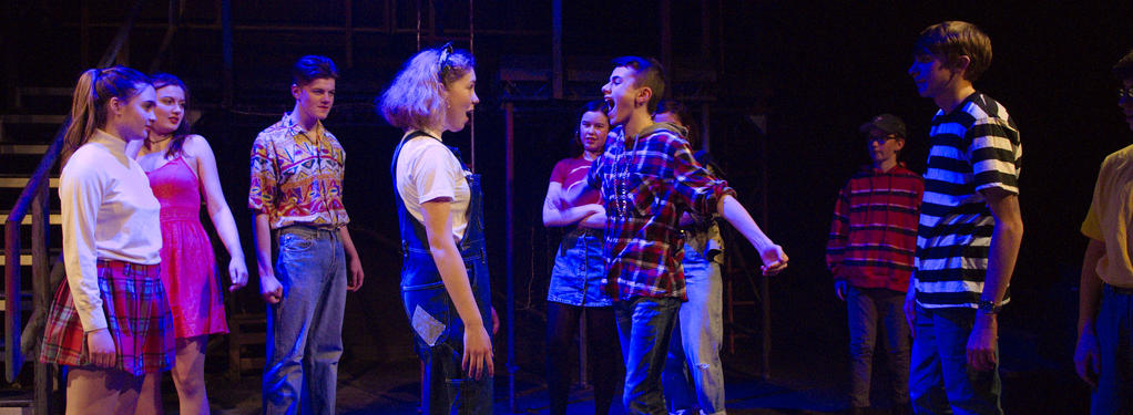 Photograph from Romeo & Juliet - lighting design by Jack Wills
