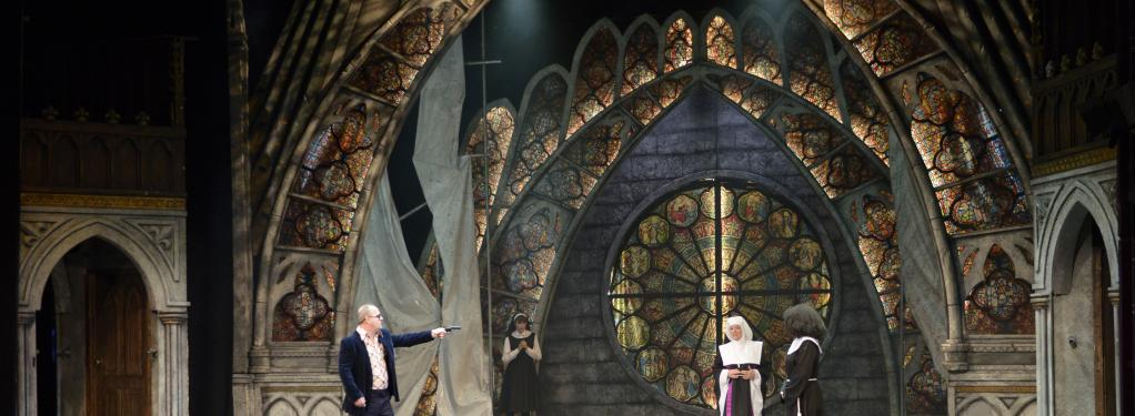Photograph from Sister Act - lighting design by Will Burgher