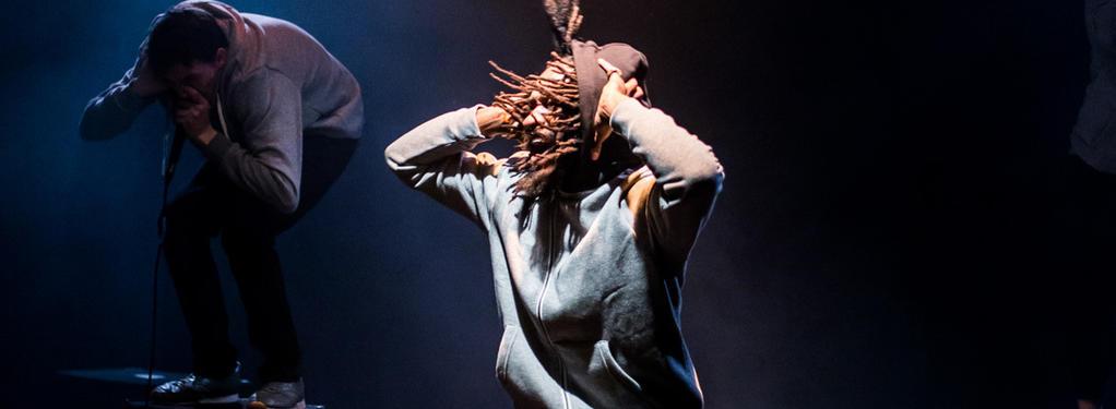 Photograph from Frankenstein - lighting design by Sherry Coenen