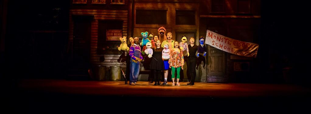 Photograph from Avenue Q - lighting design by Charlie Morgan Jones