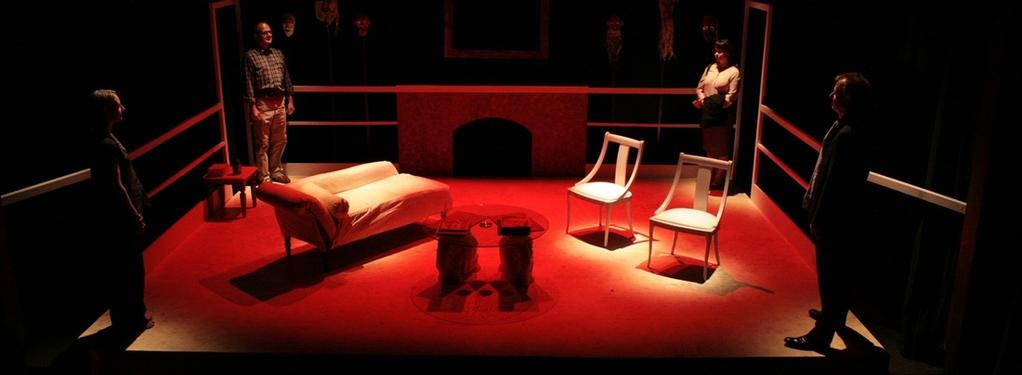 Photograph from God of Carnage - lighting design by Peter Vincent