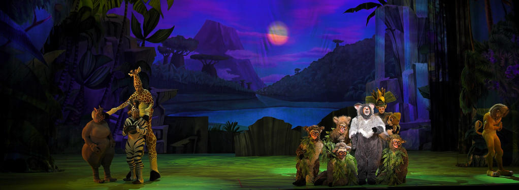 Photograph from Madagascar Live - lighting design by Luc Peumans