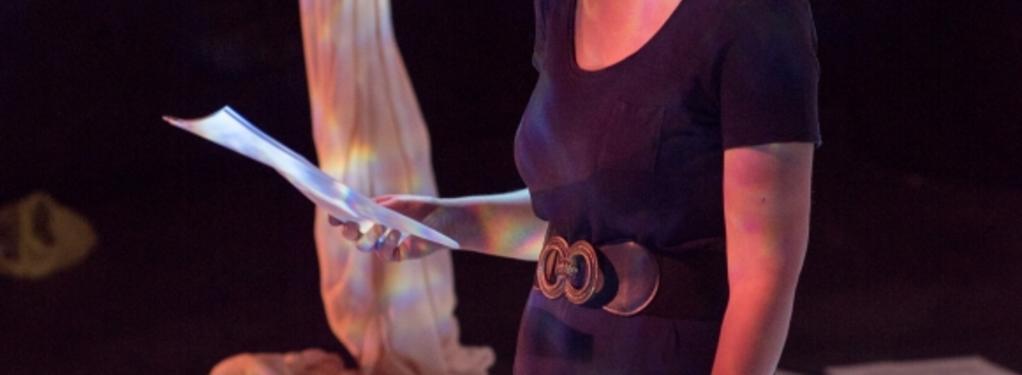 Photograph from Ovids Heroines - lighting design by John Castle