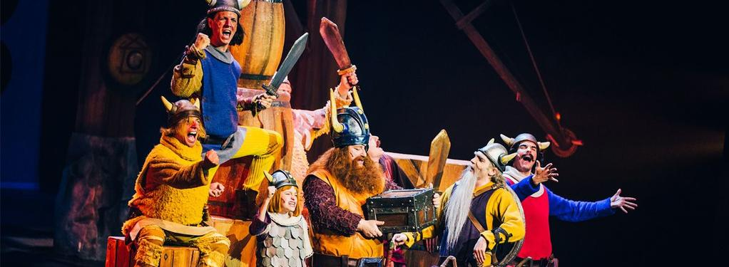 Photograph from Wickie the Viking Musical - lighting design by Luc Peumans