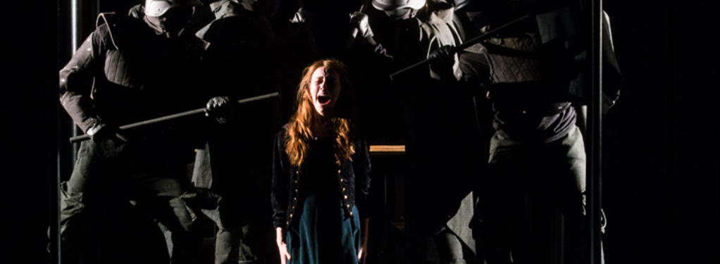 Photograph from The Devils - lighting design by Joshua Gadsby