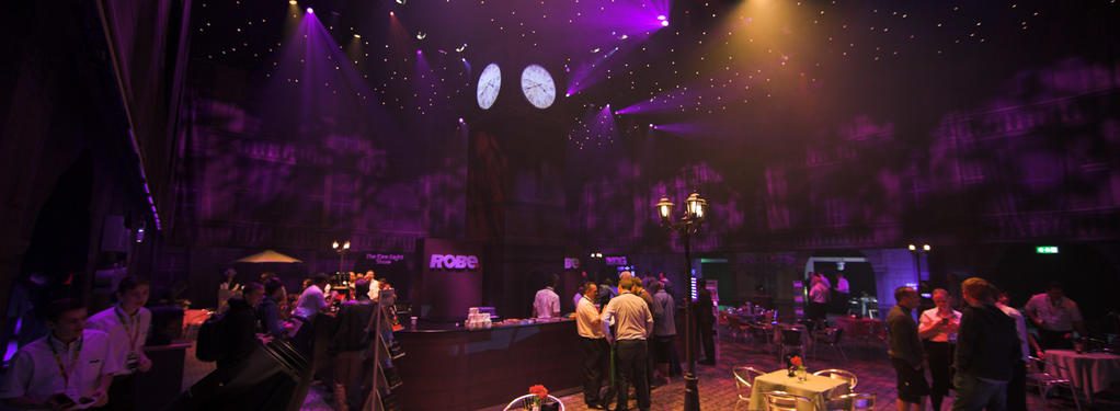 Photograph from Plasa Robe Piazza - lighting design by Andy Webb