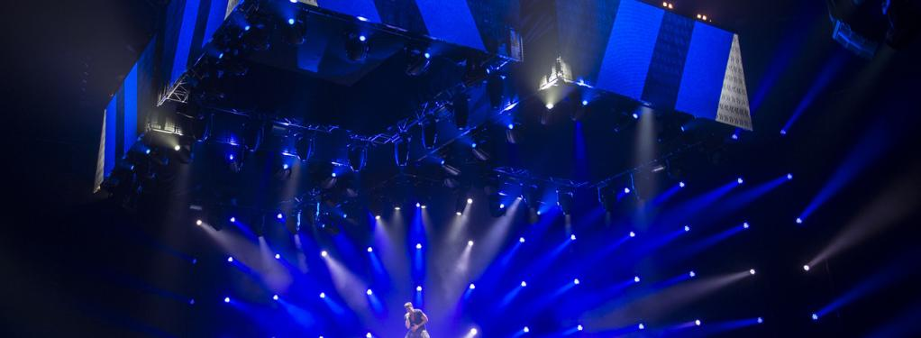 Photograph from Ricky Martin: One World Tour 2015/16 - lighting design by Richard Neville