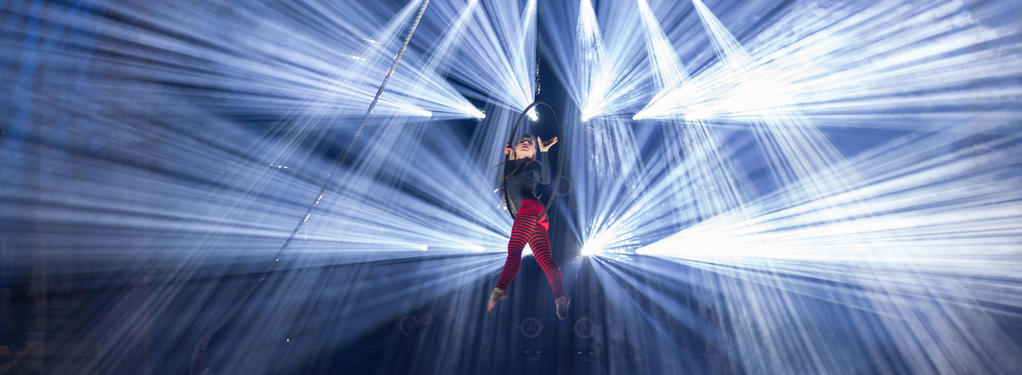 Photograph from Cirque Robe - lighting design by Andy Webb