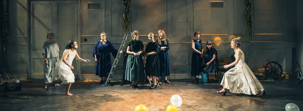 Photograph from The Love of The Nightingale - lighting design by Ellen Butterworth-Evans