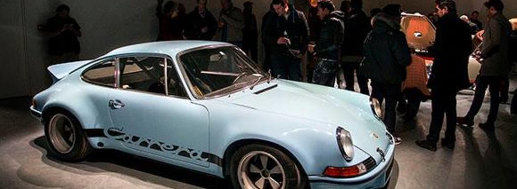 Photograph from Singer Cars UK Show - lighting design by Ben Skipworth