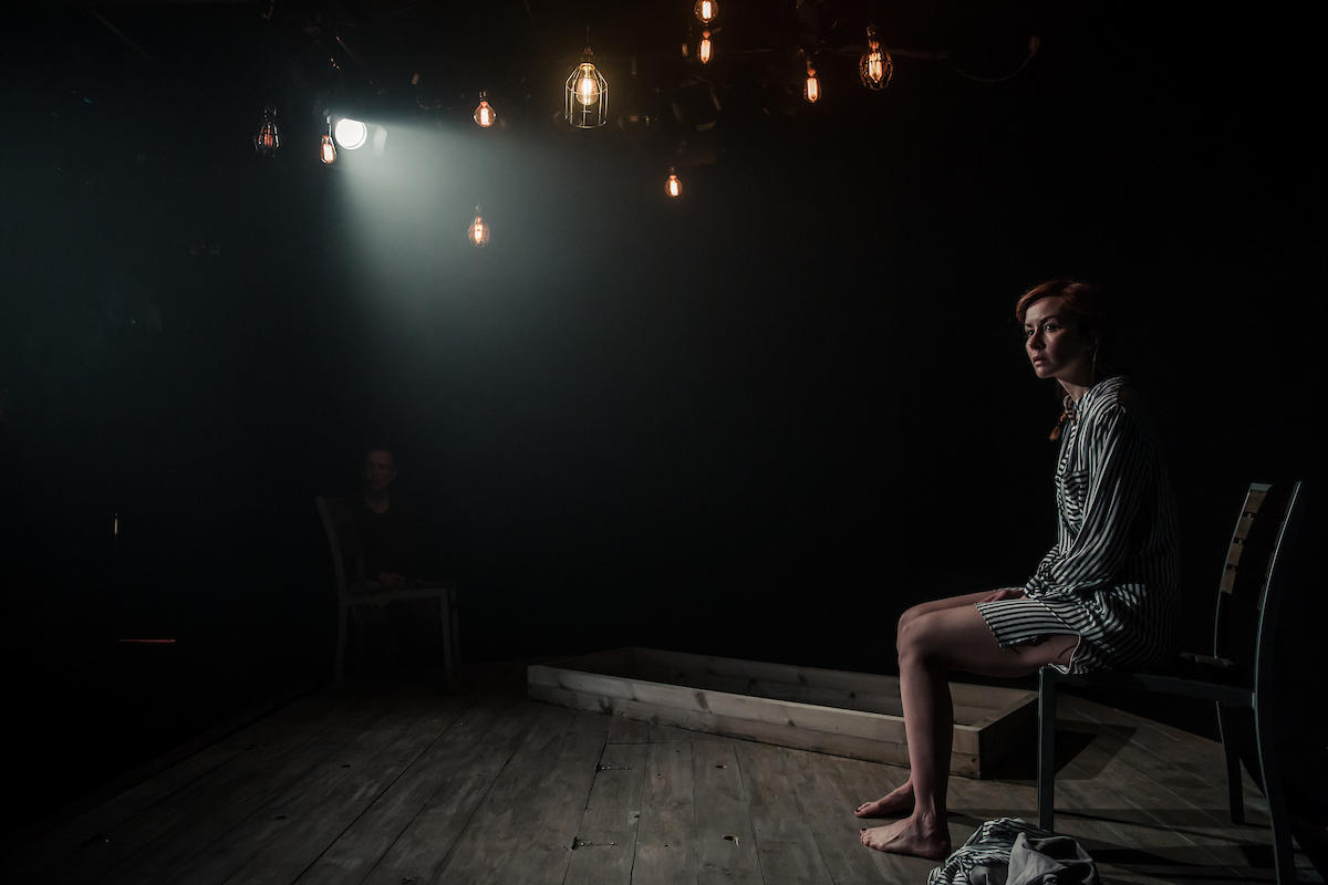 Photograph from Tiny Dynamite - lighting design by Zoe Spurr