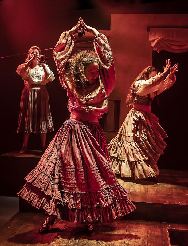 Photograph from Zorro The Musical - lighting design by Matthew Haskins