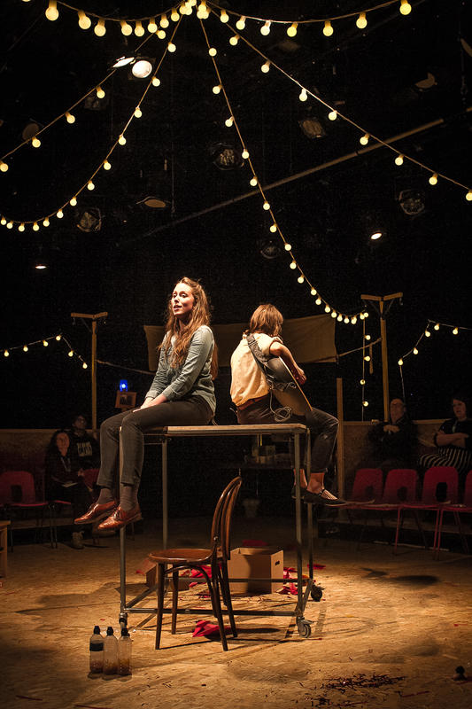 Photograph from I Won't Make It On My Own - lighting design by Joshua Gadsby
